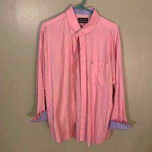 Pink Nautical Button Down Shirt 16 1/2